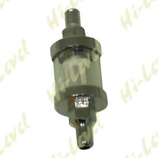 """H-L CUSTOM CHROME FUEL FILTER 5/16"""" (8MM) CHROME WITH GLASS  BC38070 T"""