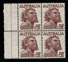 1950 KING GEORGE VI 8 1/2d GUTTER BLOCK 4 PRE-DECIMAL STAMPS FRESH MUH #G36