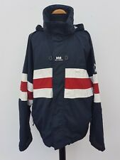 U868 MENS HELLY HANSEN YACHTING BLUE WHITE RED HOODED JACKET UK XL 44