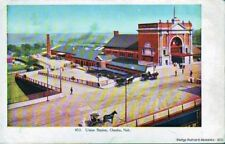 OMAHA NE 1901-07 Union Station Old Conveyance VINTAGE USA GEM+++