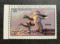 WTDstamps - #RW62 1995 - US Federal Duck Stamp - Mint OG NH  **ARTIST SIGNED**