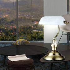 ART NOUVEAU écrire Table Banquier LAMPE VERRE ALBÂTRE vieux laiton