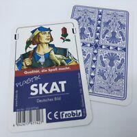 Ab 3,44€ Stück Skat 100% Plastik Deutsches Bild, Kornblume Spielkarten Frobis