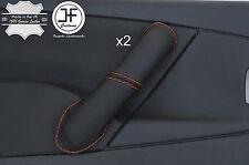Surpiqûres orange 2X Avant Poignée Porte Couverture en cuir pour CITROEN XSARA PICASSO 04-10