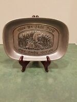 Wilton Armetale Pewter Bread Tray Give Us This Day Our Daily Bread Tray RWP VTG