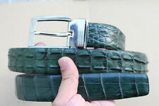 Green Genuine Alligator ,Crocodile Leather Skin Men's Belt