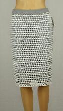 Calvin Klein Womens Gray White Scuba-Lined Lace Pencil Skirt 6