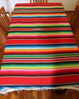 Mexican Sarape Red, Saltillo Blanket, Hot Rod, Picnic Throw Yoga Tablecloth Rug