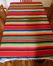 Mexican Sarape Red, Saltillo Blanket, Hot Rod, Picnic Throw Yoga Tablecloth Rug