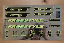 Reproduction 1994 GT Vertigo BMX Decal Set For Black Painted Frame