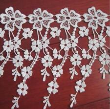 1 Yards Milch Seide Quaste Blume Spitze Trim Kleidung Nähen Home Dekoration