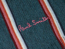 PAUL SMITH STRIPY SOFT WOOL MULTICOLORED SCARF BNWT RARE MADE IN ITALY