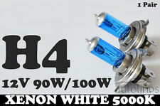 2 x H4 100W / 90W 12V Xenon White 5000k Halogen Car Head Light Globes Bulbs Lamp
