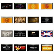 Personalised Bar Runner Novelty Bar Gifts Beer Label Pub Custom Mat Gift Idea