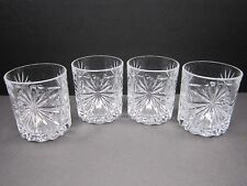 RCR Cristalleria Oasis Style Ultra Clear Crystal Lowball Tumbler Glasses 4pc Set