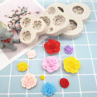 3D Rose Flower Silicone Fondant Mould Cake Decorating Chocolate Baking Mold Tool