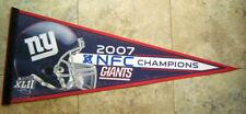2007 New York GIANTS Super Bowl XLII NFC Champs NFL Football PENNANT
