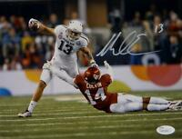 Mike Evans Autographed *Silver Texas A&M 8x10 Against OU Photo- JSA W Auth