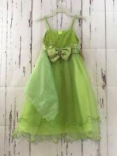 CHIC BABY Bow Dress & Shawl Girls 6 Green Princess Holiday Pageant Formal NWT