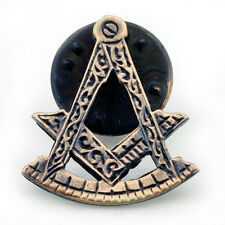Masonic Lapel Pin Antique Effect Square and Compass