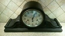 Antique Junghans Gibraltar A27 mahogany Mantle clock Wurttembeg running & chimes