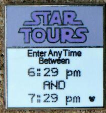 "P2 Disney Pin Hidden Mickey Series Fast Pass ""Star Tours"" #3 Of 4"