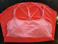 Size L $59 retail NWT Lucy Unhindered Racerback low impact GLOXINIA Sports Bra