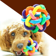 Dog Puppy Pet Teething Chew Dental Training Healthy Teeth bells Ball Play Toy