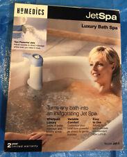 New! Nib Homedics JetSpa Luxury Bath Spa Jet-1 Whirlpool Power In Portable Size
