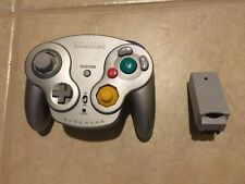 Nintendo GameCube Wavebird Platinum Controller with Reciever TESTED and Clean