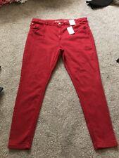 M&s hellrote Mid Rise Super Skinny Jeans Größe 20 Reg Bnwt Kostenlose tagesbesuchen p&p