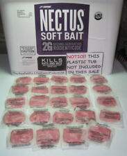 Nectus Soft Bait 2 Dozen 24 Rat & Mice Poison Bromadiolone NEW FRESH 2018 STOCK