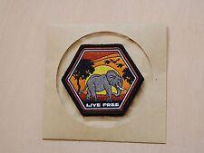 PDW Prometheus Design Live Free Elephant Morale Patch