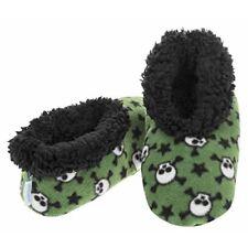 Snoozies Zapatillas de Lana Chicos: Calaveras: medio (1-2)