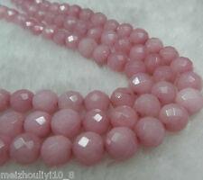 "Faceted 8mm Pink Round Rhodochrosite Gemstone Loose Beads 15"" Strand"