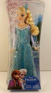 "Mattel Walt Disney Frozen ICE QUEEN ELSA OF ARENDELLE 12"" ANNA DOLL NEW NIB Rare"