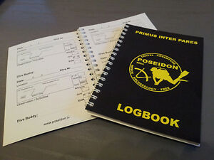 Scuba Diving Diver`s  Log Book - Dive Club POSEIDON (102 dives!!! )