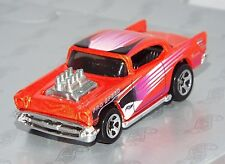 Hot Wheels 1 Loose Car 2000 Mainline #228 '57 Chevy Mtflk Orange w/ 5SPs