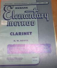 Elementary Method Clarinet sheet music instructions 48 pages