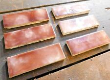 "6 - 1890's Trent FIREPLACE HEARTH TILES - 2"" x 6"" Ceramic VICTORIAN Style ORNATE"
