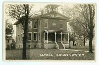 RPPC Old School at COHOCTON NY New York Real Photo Postcard
