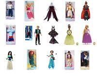 Disney Store Classic Doll Film Dolls Toys Rapunzel Aladdin Mulan Merida Tiana