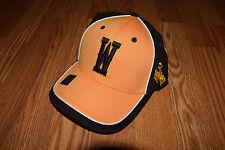 NEW Mens WYOMING COWBOYS NCAA Brown Gold Baseball Football Hat Cap One Size