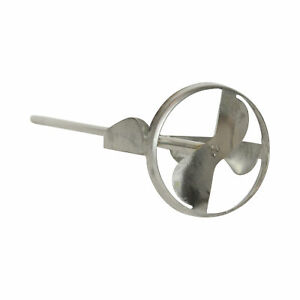 """Jiffy Mixer HS-1 1/4"""" Shaft 2 Gallon Stainless Steel Paint Grout Mixer Blade"""