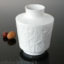 Porcelaine Relief Vase Edelstein Bavaria Paradis Kurt Wendler Nude acte 60 S 60er