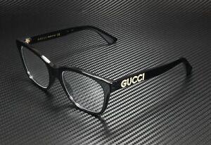 GUCCI GG0420O 001 Rectangular Square Black Demo Lens 52 mm Women's Eyeglasses