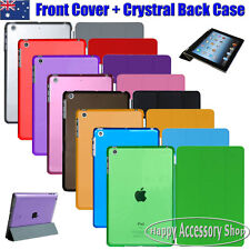 Apple New iPad Mini Smart Cover Skin Case and Crystal Clear Hard Back Case
