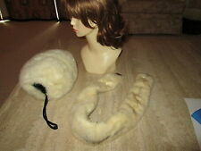 VINTAGE FUR MUFF and COLLAR STOLE with Clips - Lovely!