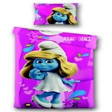Smurfs Smurfette Pink Single Panel Duvet Cover Bed Set New Gift Bedding