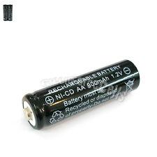 2 Pcs AA 2A 900mAh 1.2V Ni-Cd Ni-Cad Solar Light Rechargeable battery Black